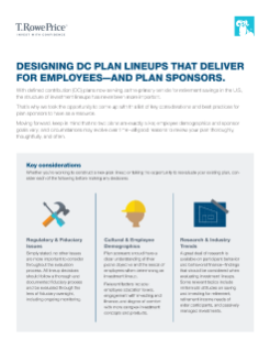 Constructing More Effective DC Investment Lineups Brochure
