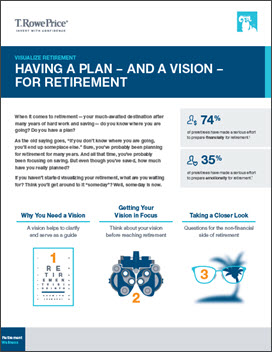 Having a Plan–And A Vision–For Retirement