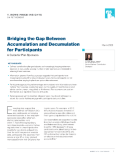Bridging the Gap Between Accumulation and Decumulation for Participants