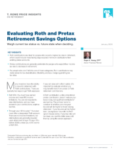 Evaluating Roth and Pretax Retirement Savings Options