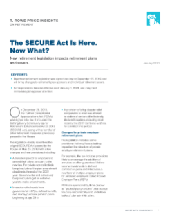 The SECURE Act Is Here. Now What?
