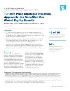 Positive Results Driven by T. Rowe Price's Strategic Investing Approach