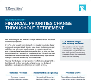 Financial Priorities Change Throughout Retirement