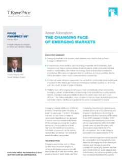 Asset Allocation: The Changing Face of Emerging Markets