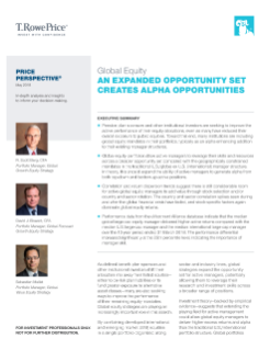 Global Equity: An Expanded Opportunity Set Creates Alpha Opportunities