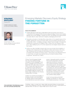 Emerging Markets Discovery Equity Strategy: Finding Fortune in the Forgotten