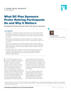 What DC Plan Sponsors Prefer Retiring Participants Do and Why It Matters