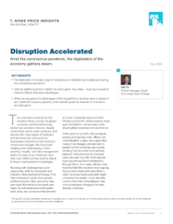 Disruption Accelerated