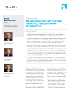 Stable Value: An Increasingly Attractive Principal Preservation Alternative