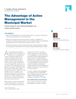 The Advantage of Active Management in the Municipal Market   T  Rowe