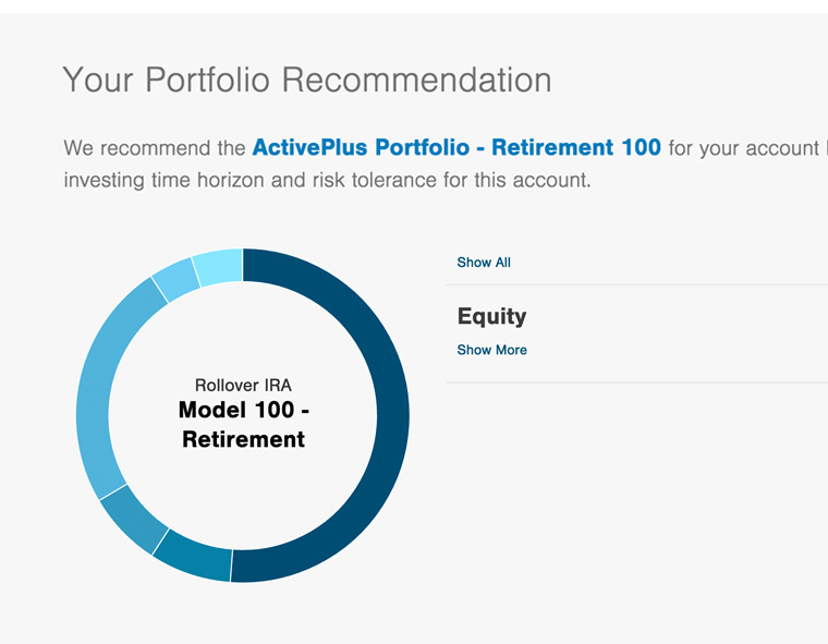 See The Portfolio Allocation We Recommend Based On Your Answers