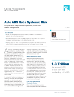 Auto ABS Not a Systemic Risk