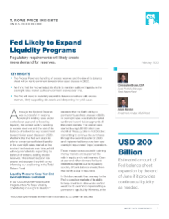 Fed Likely to Expand Liquidity Programs