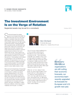 The Investment Environment Is on the Verge of Rotation