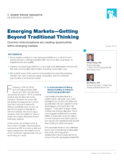 Emerging Markets—Getting Beyond Traditional Thinking