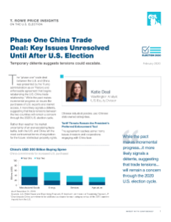 Phase One China Trade Deal: Key Issues Unresolved Until After U.S. Election