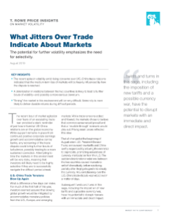 What Jitters Over Trade Indicate About Markets