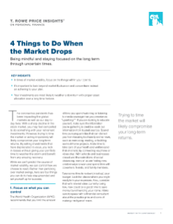 4 Things to Do When the Market Drops