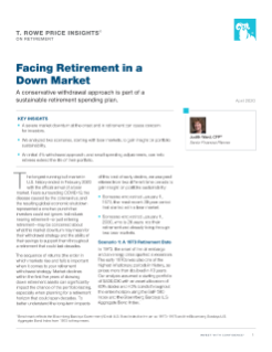 Facing Retirement in a Down Market