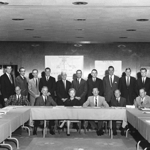 A picture of the staff in the 1960s.