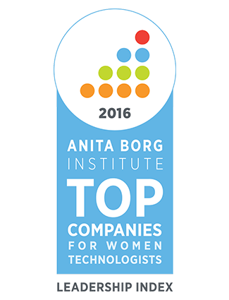 Anita Borg Institute 2016 Top Companies for Woman Technologists