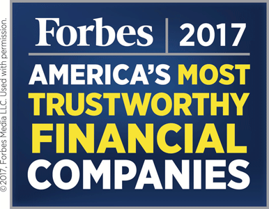 Forbes 2017 America's Most Trustworthy Financial Companies