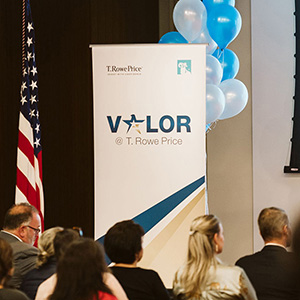 The launch of Valor, the Busines Resource Group focused on veterans.