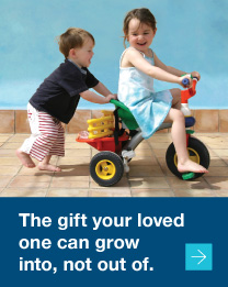 The gift your loved one can grow into, not out of.