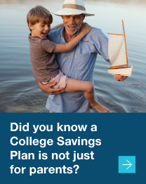A college savings plan is not just for parents.